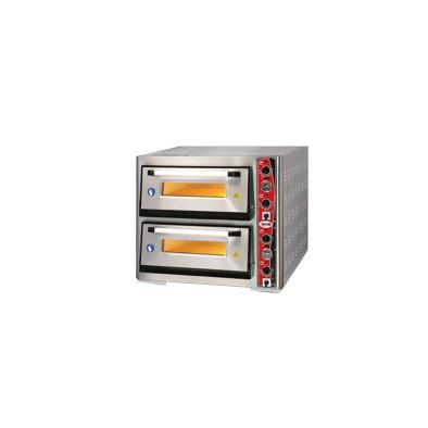 GMG Pizza Fırını PF6262DE-T Çift Katlı-380 V-içi 62x62 cm
