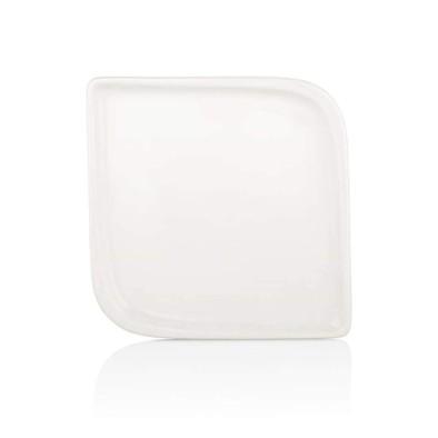 AREL 20 CM KARE TABAK-beyaz porselen