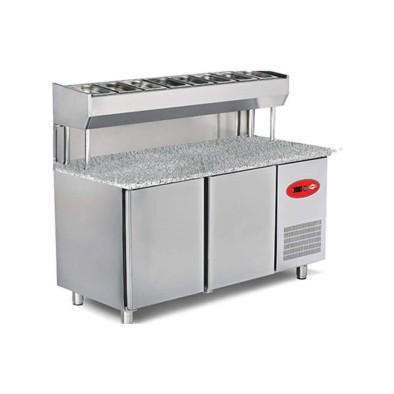 Empero EMP.200.80.01-PSYG Pizza ve Salata Hazırlık Buzdolabı-Granit tablalı-3 Kapılı