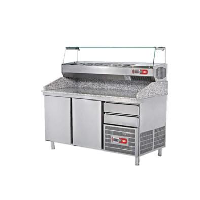 EMPERO EMP.210.80.02 Granit Tablalı Hamur Hazırlık Buzdolabı (3 kapılı)