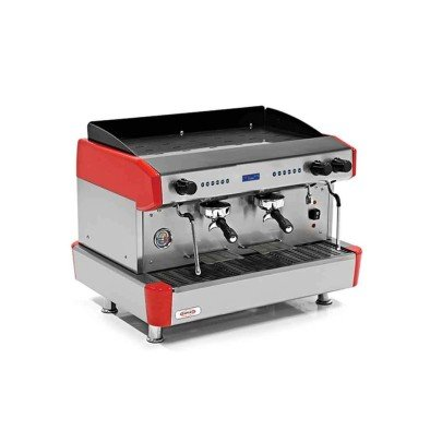 Empero EMP.CPC.3GR-D Espresso Kahve Mak. - 3 grup - tam otomatik - kırmızı