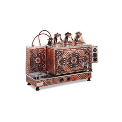 Sistem Tam Otomatik  Çay Ocağı - 3 demlik kapasiteli - Bakır işlemeli - Elk+Gaz